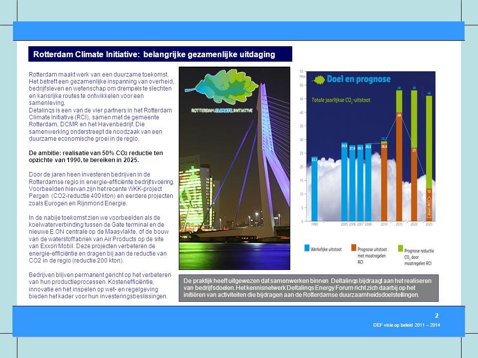 Rotterdam Climate Initiative: belangrijke gezamenlijke uitdaging