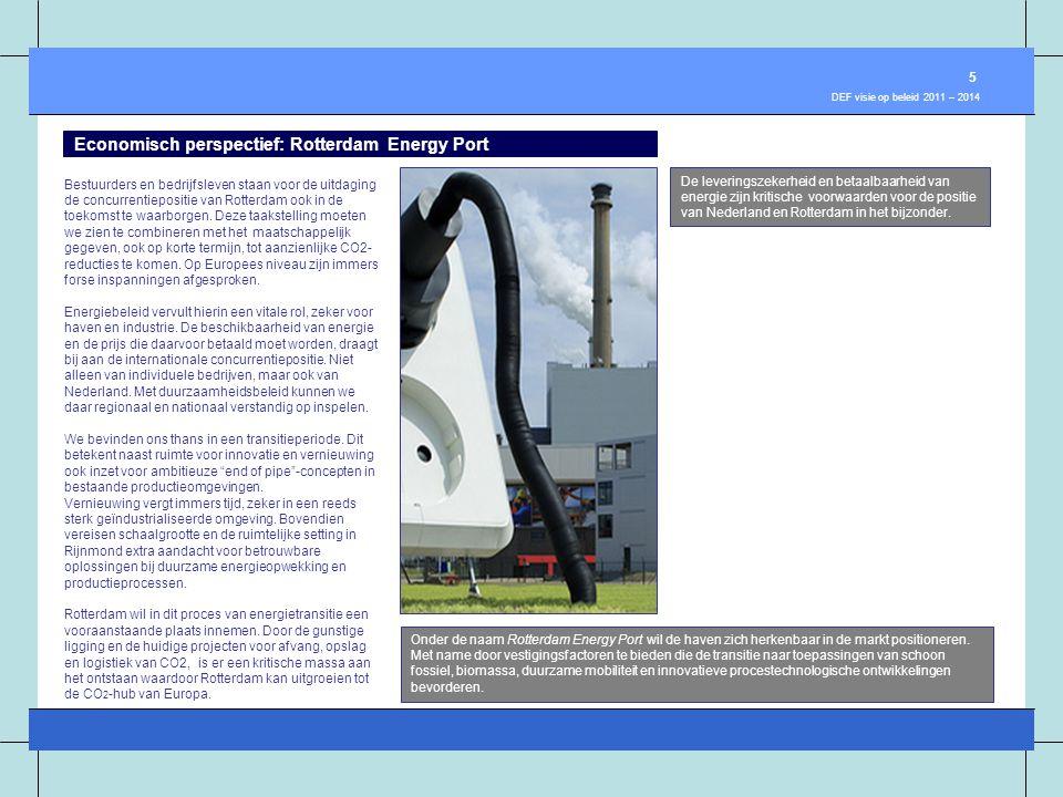 Economisch perspectief: Rotterdam Energy Port