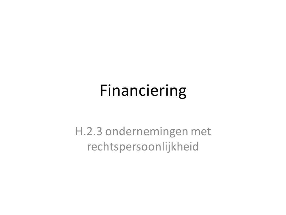 H.2.3 ondernemingen met rechtspersoonlijkheid