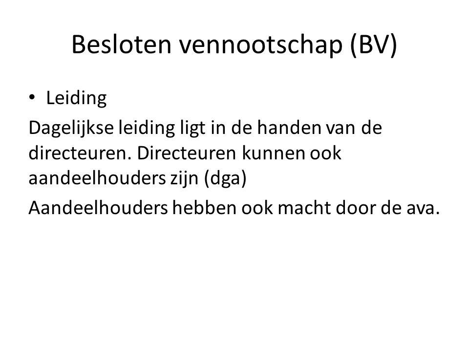 Besloten vennootschap (BV)