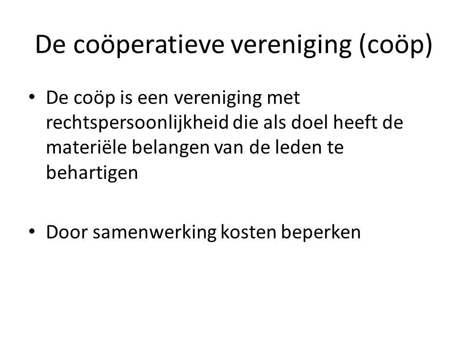 De coöperatieve vereniging (coöp)