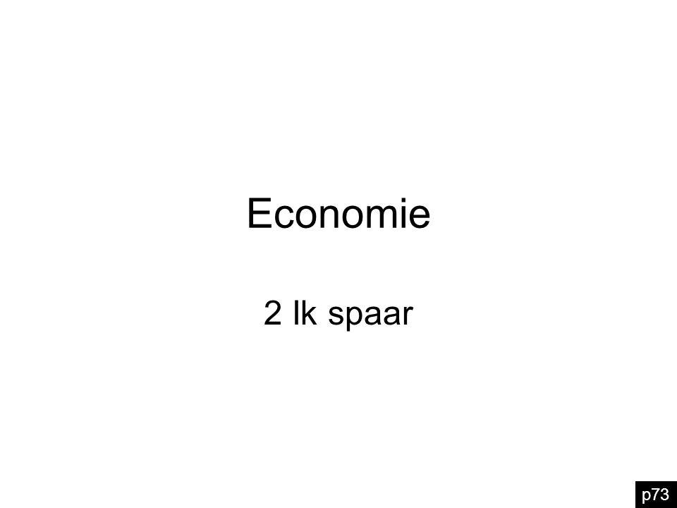 Economie 2 Ik spaar p73
