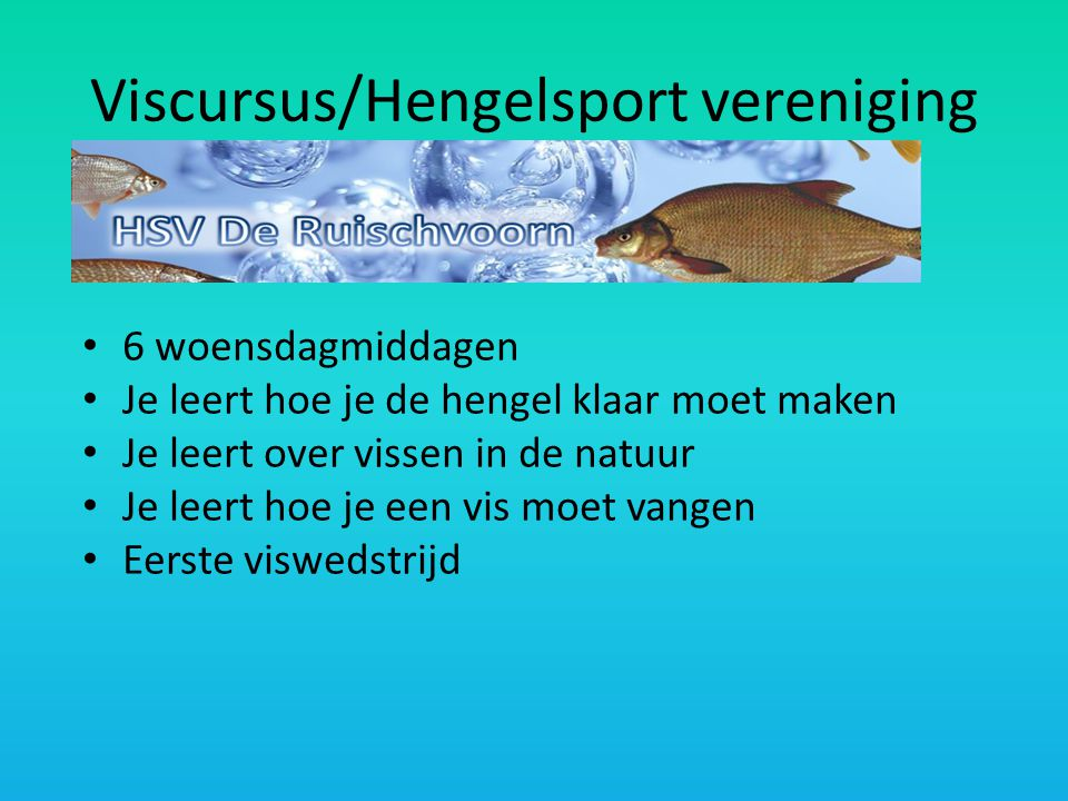 Viscursus/Hengelsport vereniging