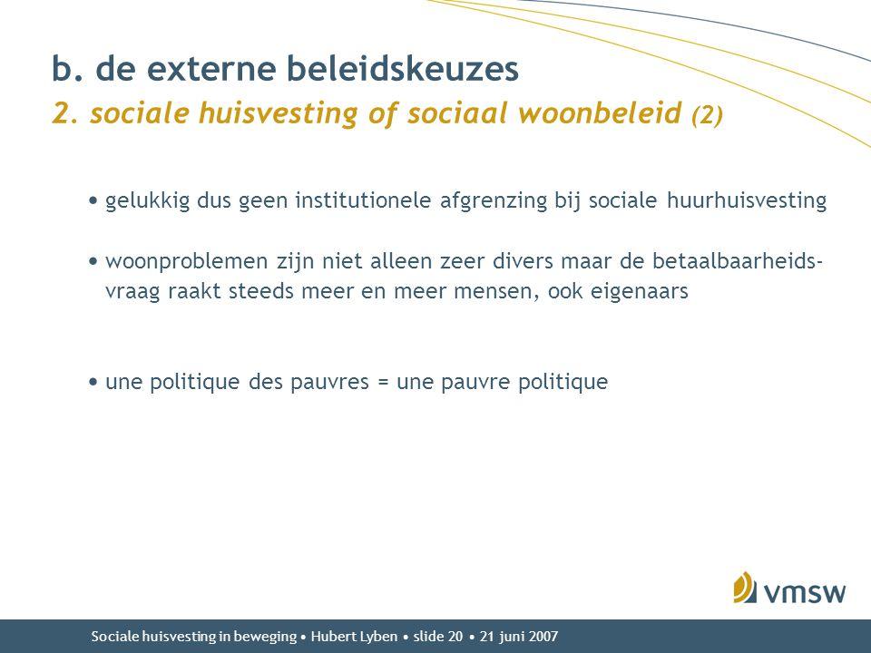 b. de externe beleidskeuzes 2