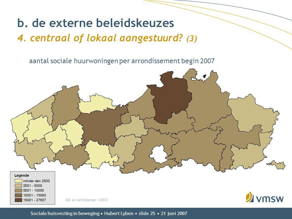 b. de externe beleidskeuzes 4. centraal of lokaal aangestuurd (3)