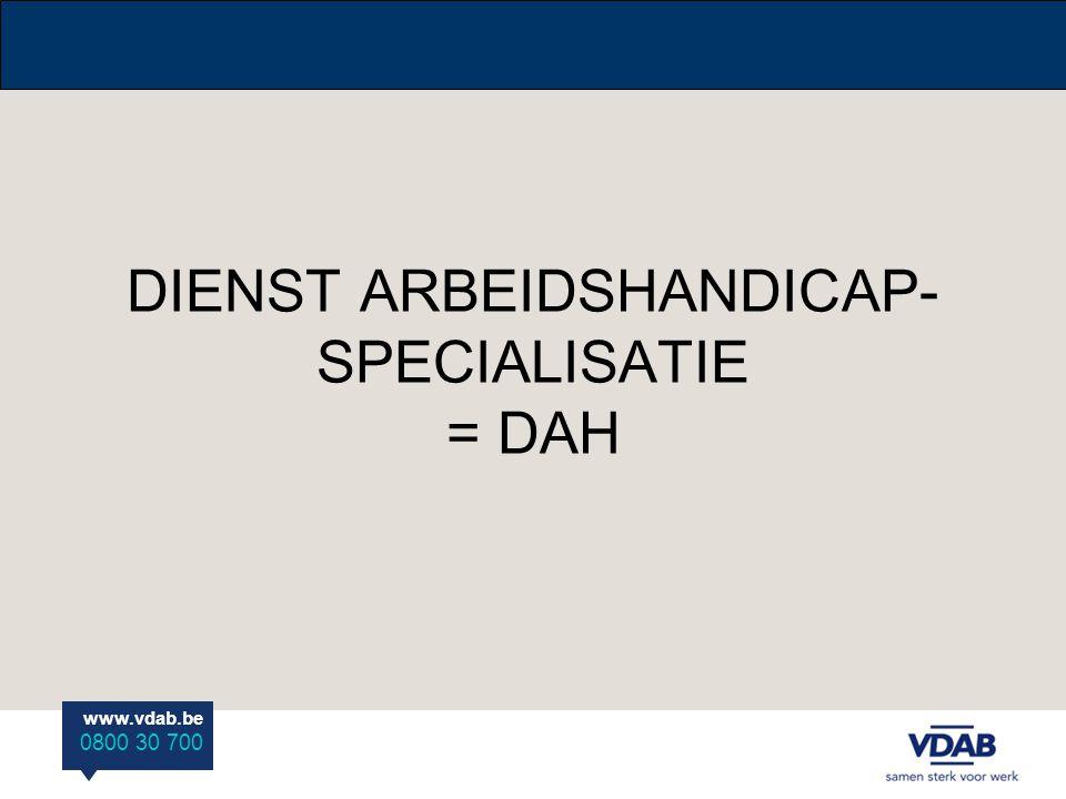 DIENST ARBEIDSHANDICAP-SPECIALISATIE = DAH