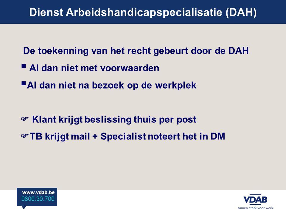 Dienst Arbeidshandicapspecialisatie (DAH)