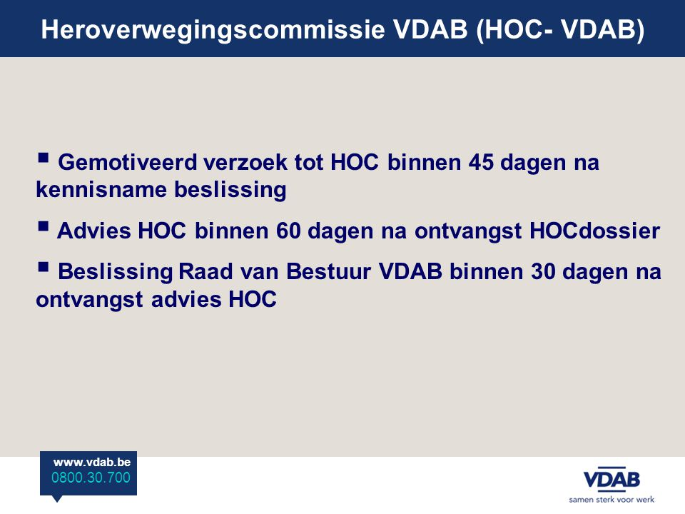 Heroverwegingscommissie VDAB (HOC- VDAB)