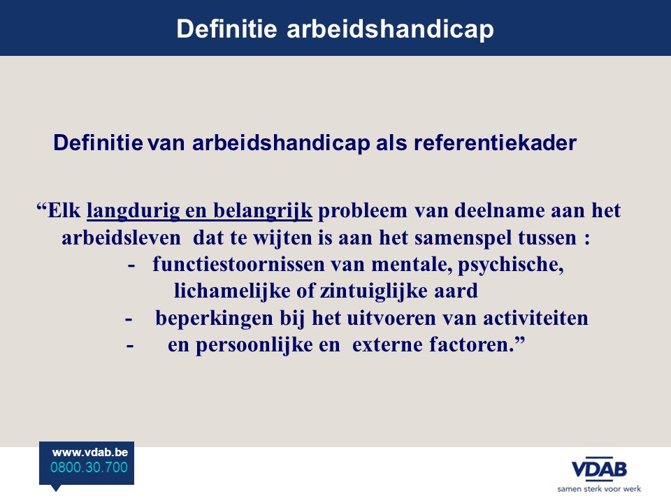 Definitie arbeidshandicap
