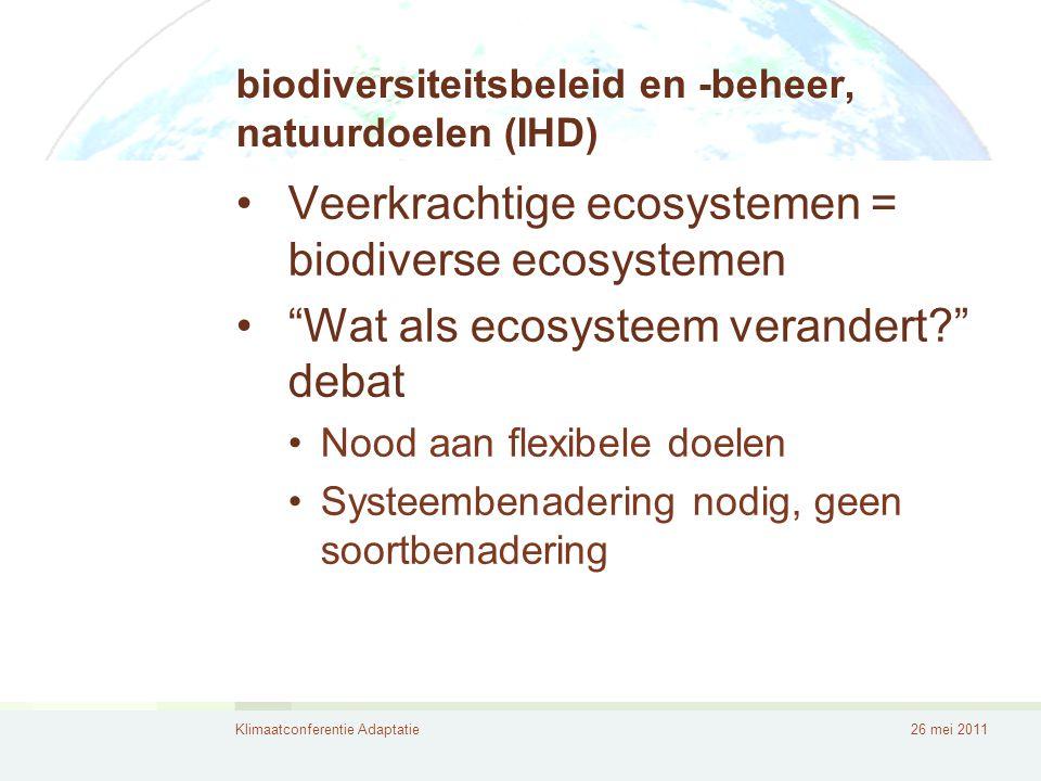 biodiversiteitsbeleid en -beheer, natuurdoelen (IHD)