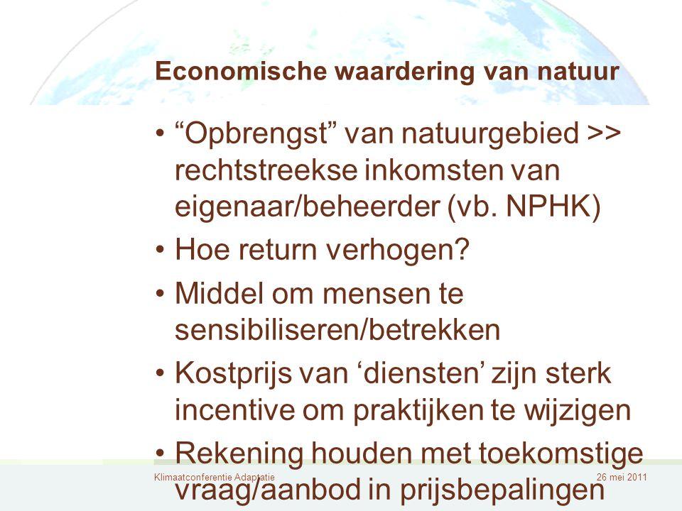 Economische waardering van natuur
