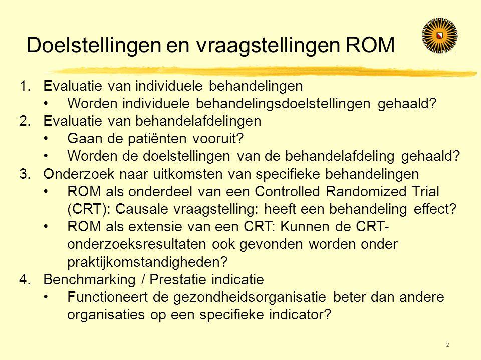 Doelstellingen en vraagstellingen ROM