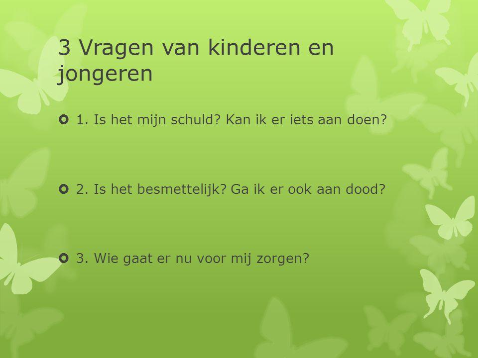 3 Vragen van kinderen en jongeren