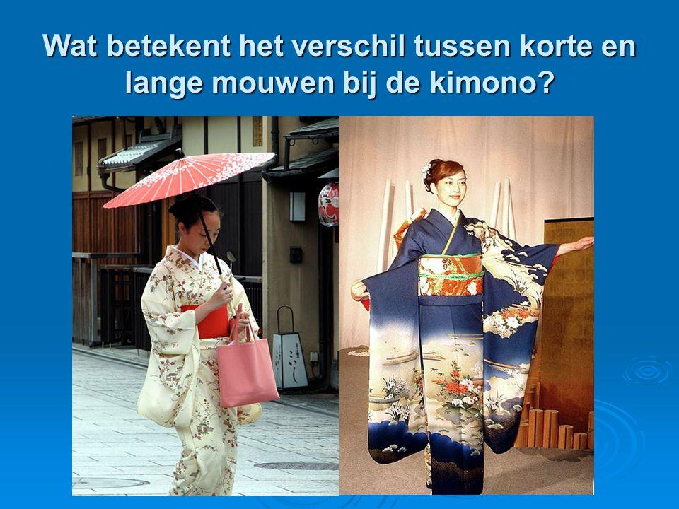 Wat betekent het verschil tussen korte en lange mouwen bij de kimono