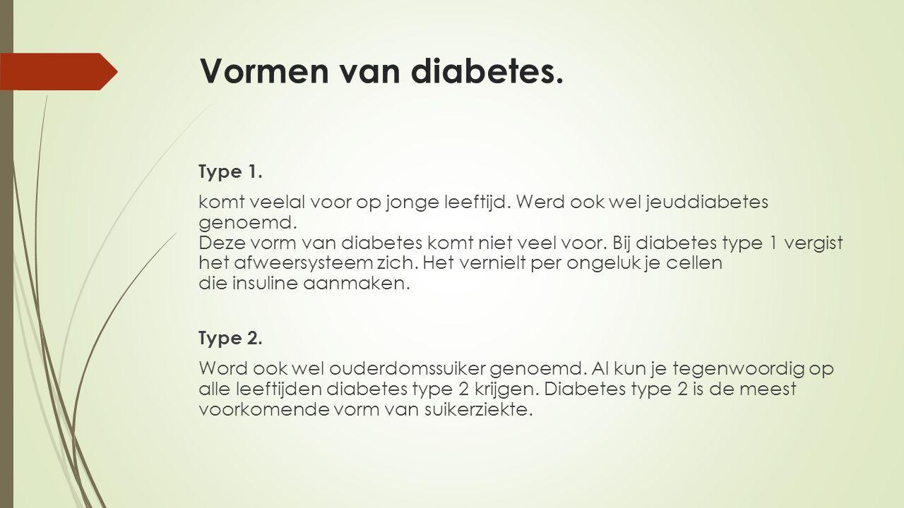 Vormen van diabetes.