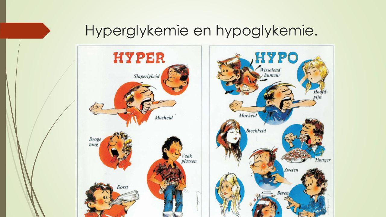 Hyperglykemie en hypoglykemie.