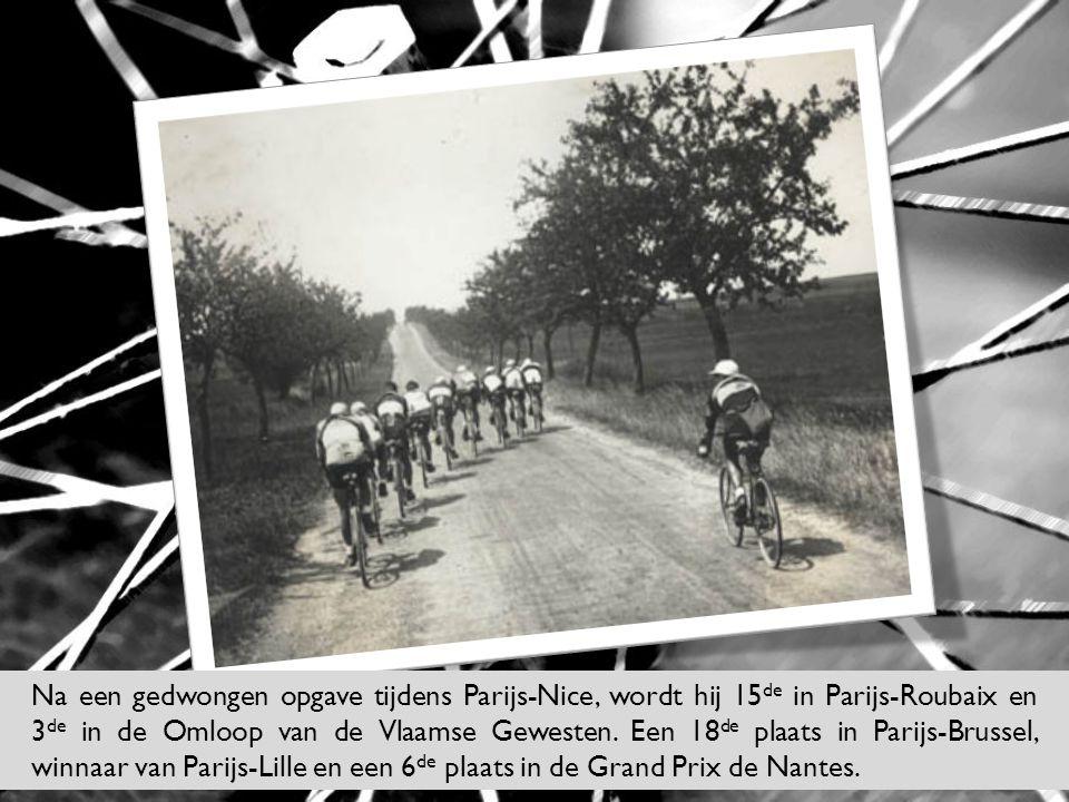 Na een gedwongen opgave tijdens Parijs-Nice, wordt hij 15de in Parijs-Roubaix en 3de in de Omloop van de Vlaamse Gewesten.