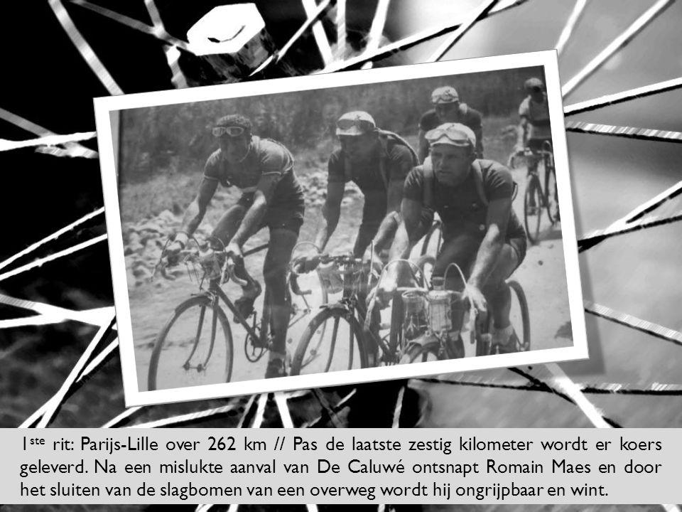1ste rit: Parijs-Lille over 262 km // Pas de laatste zestig kilometer wordt er koers geleverd.