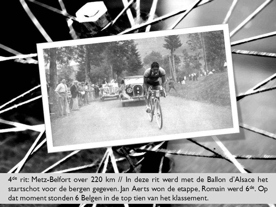 4de rit: Metz-Belfort over 220 km // In deze rit werd met de Ballon d'Alsace het startschot voor de bergen gegeven.