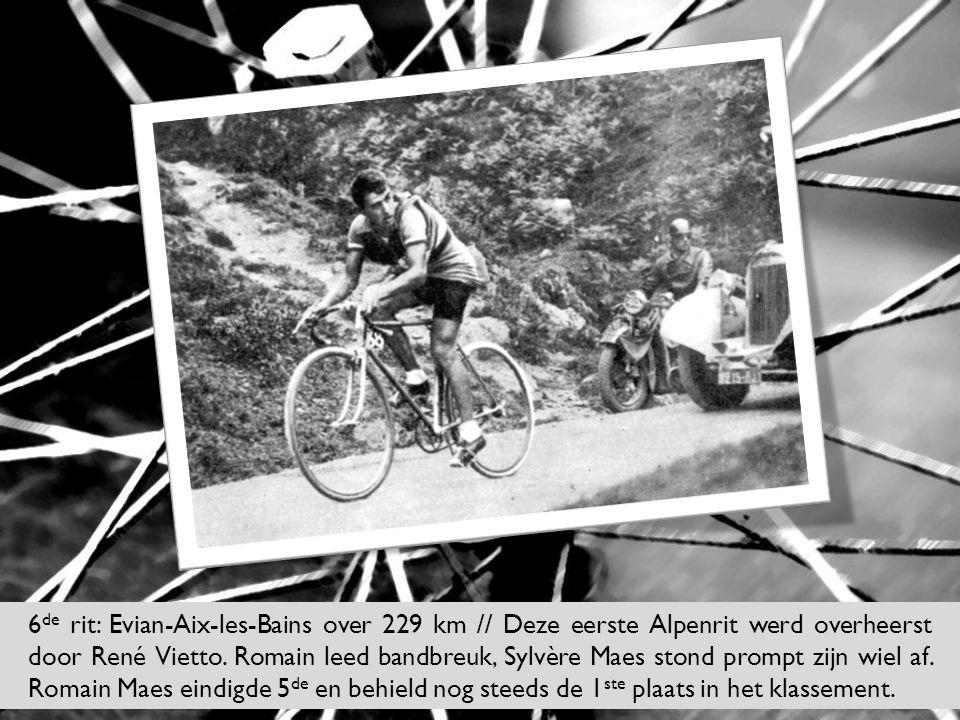 6de rit: Evian-Aix-les-Bains over 229 km // Deze eerste Alpenrit werd overheerst door René Vietto.