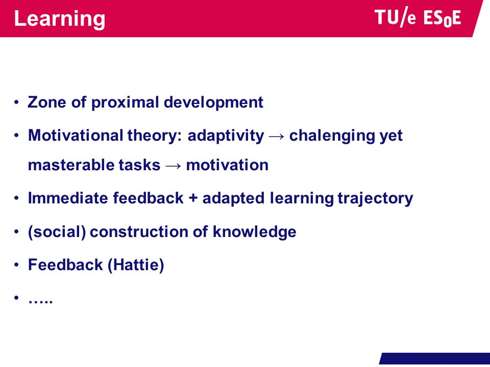 Learning Zone of proximal development