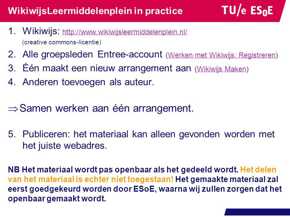 WikiwijsLeermiddelenplein in practice
