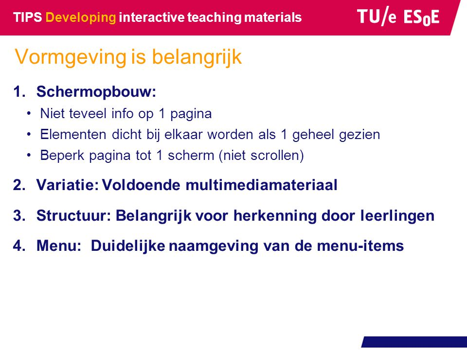 TIPS Developing interactive teaching materials