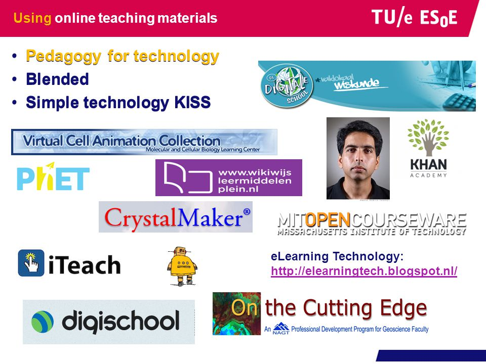 Using online teaching materials