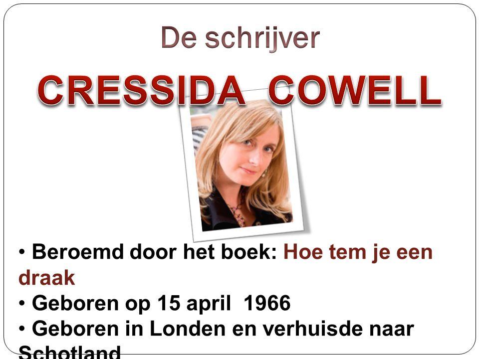 CRESSIDA COWELL De schrijver