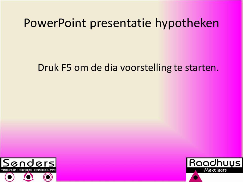 PowerPoint presentatie hypotheken