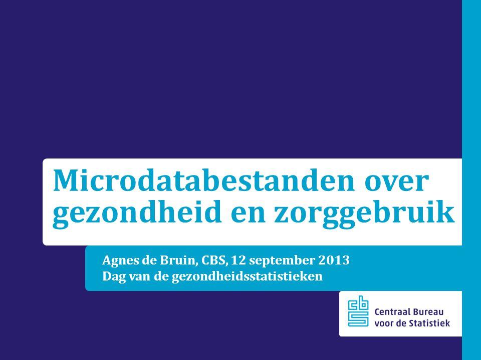 Microdatabestanden over gezondheid en zorggebruik