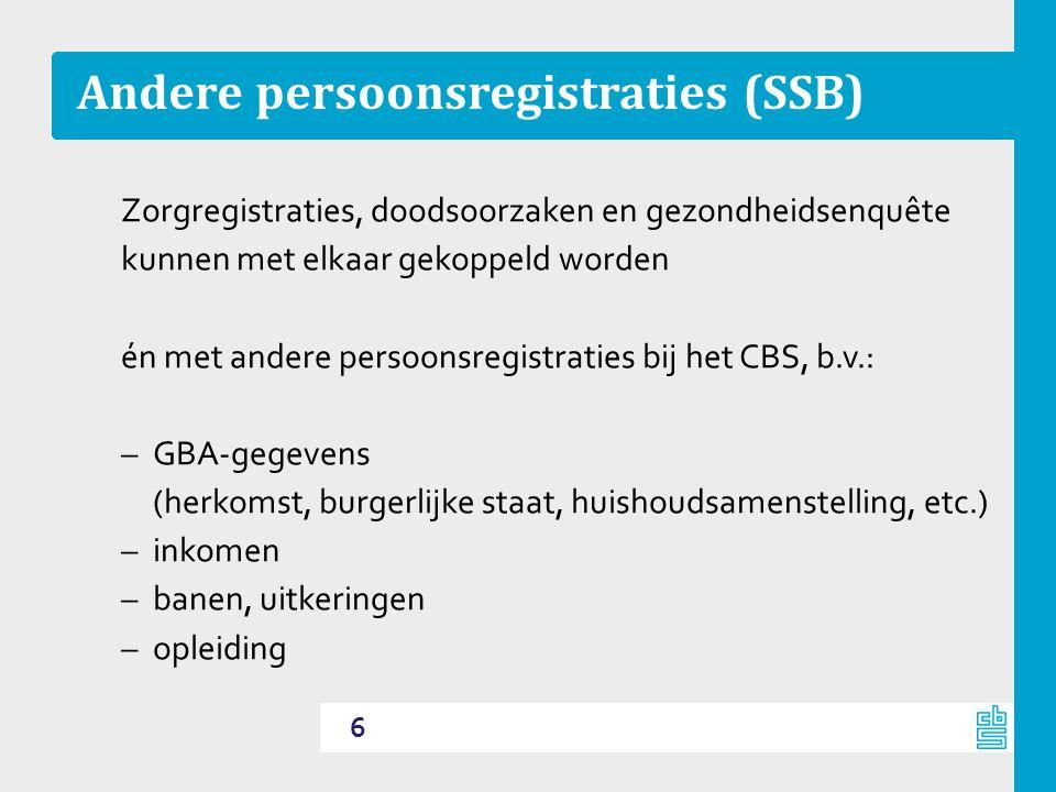 Andere persoonsregistraties (SSB)
