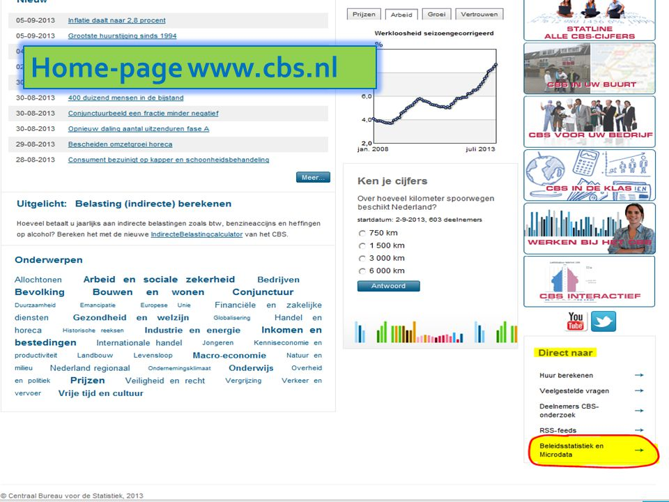 Home-page www.cbs.nl