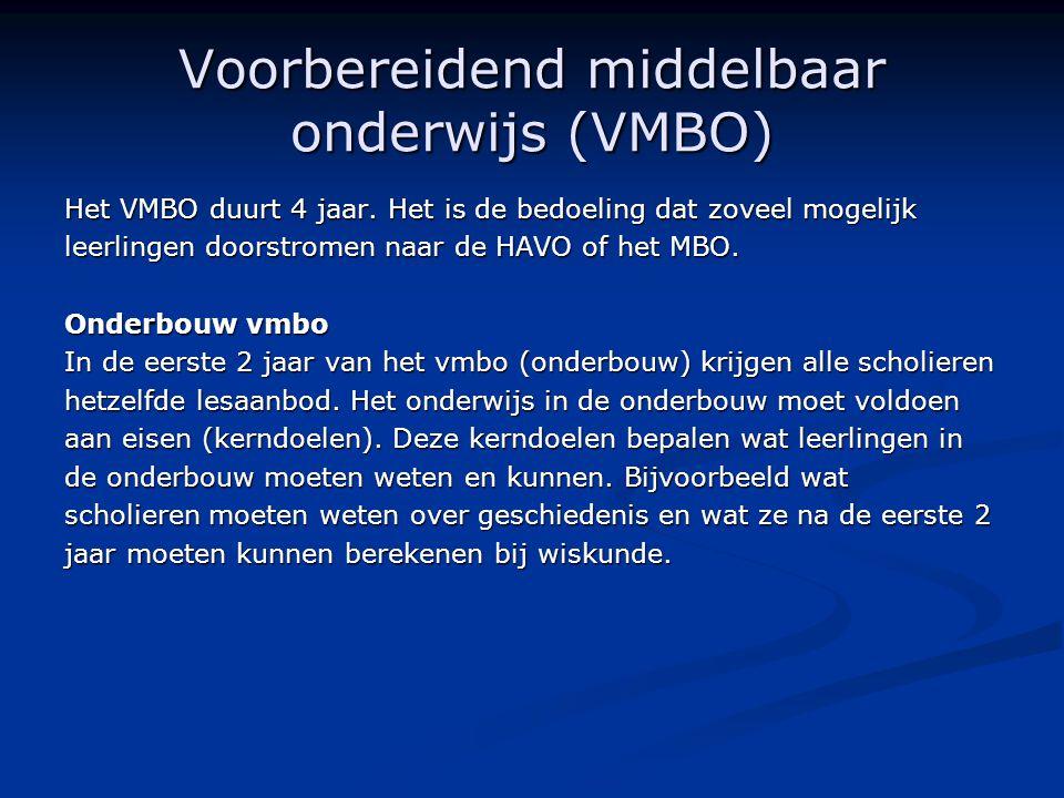 Voorbereidend middelbaar onderwijs (VMBO)