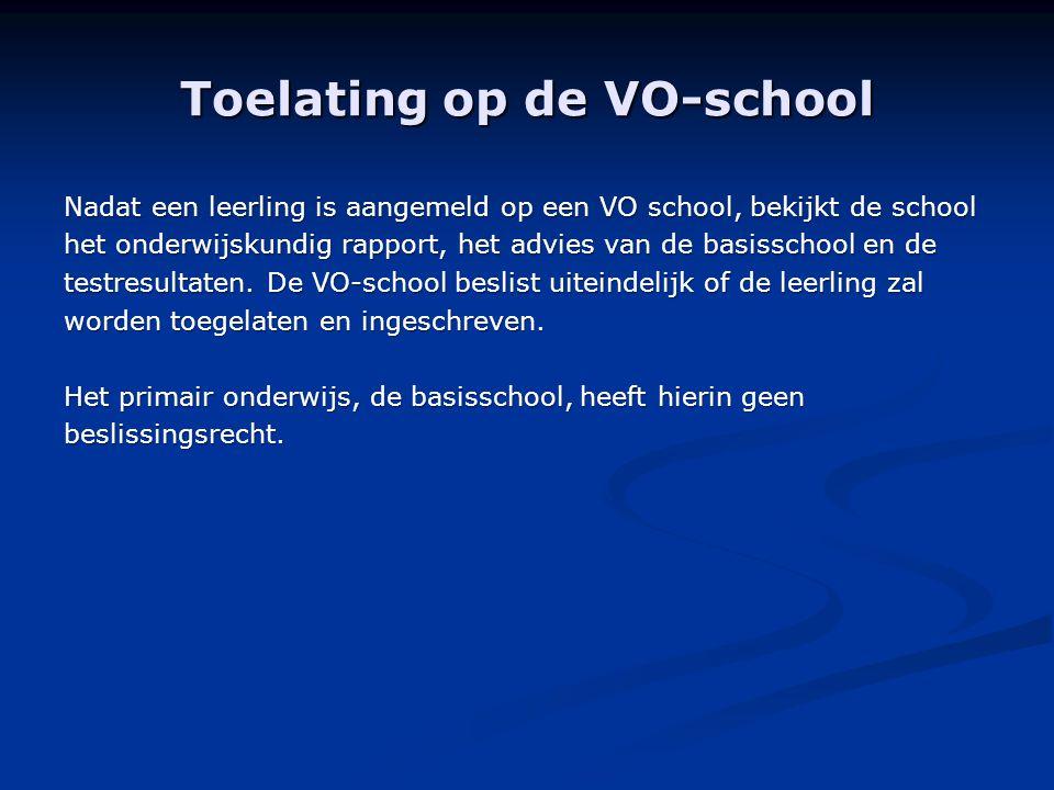 Toelating op de VO-school