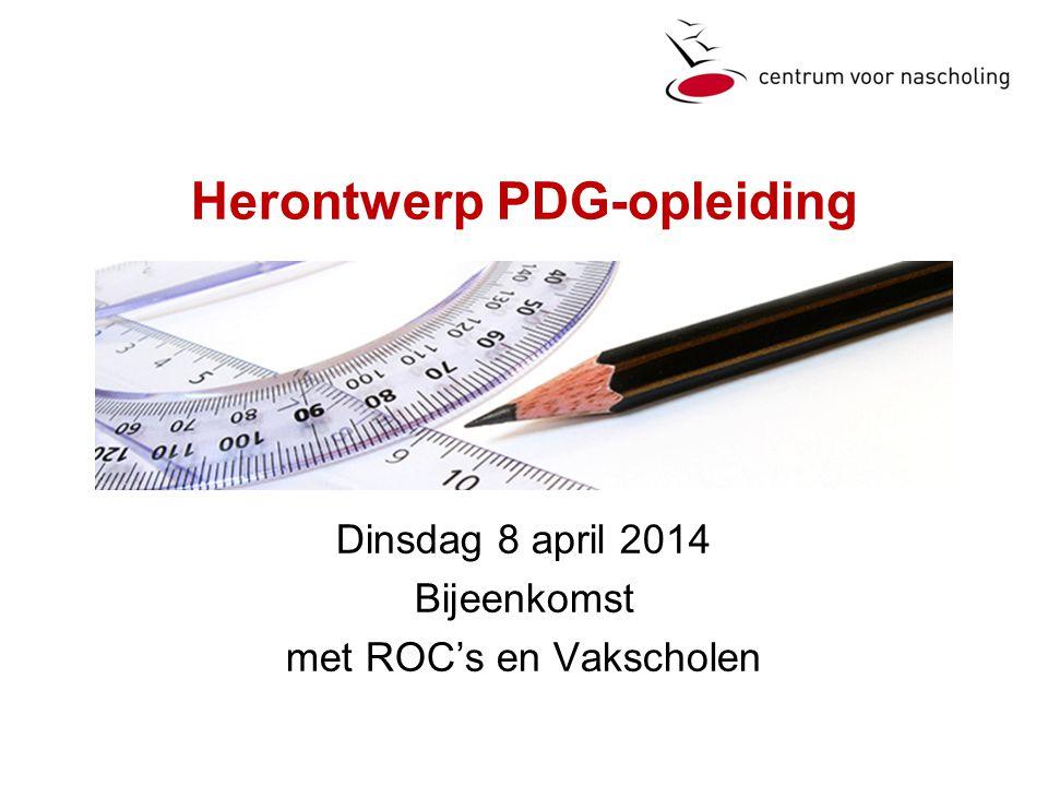 Herontwerp PDG-opleiding