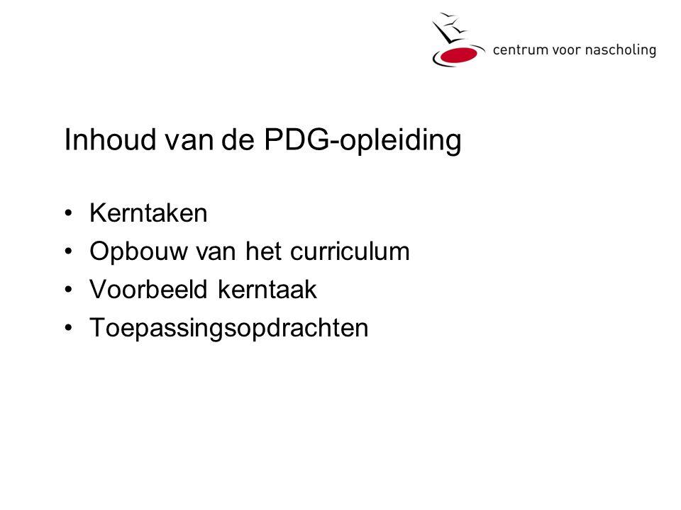 Inhoud van de PDG-opleiding