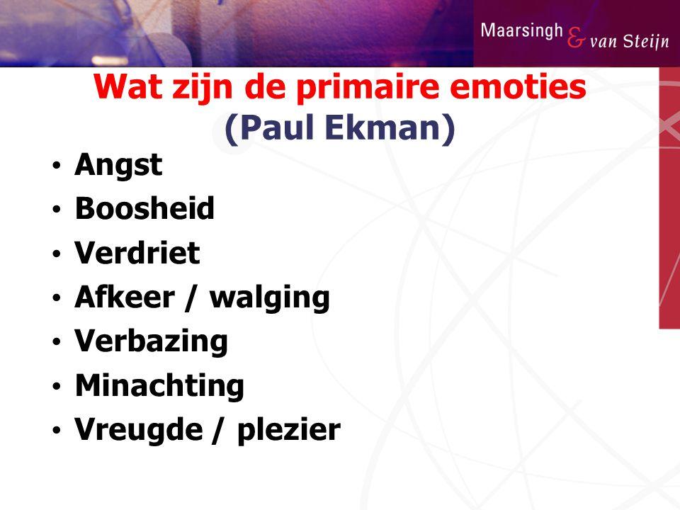 Wat zijn de primaire emoties (Paul Ekman)