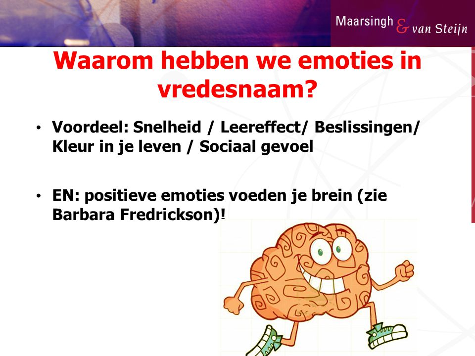 Waarom hebben we emoties in vredesnaam