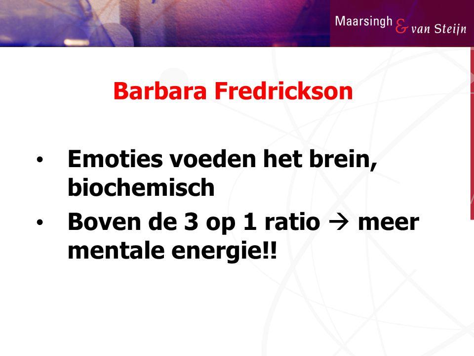 Barbara Fredrickson Emoties voeden het brein, biochemisch.