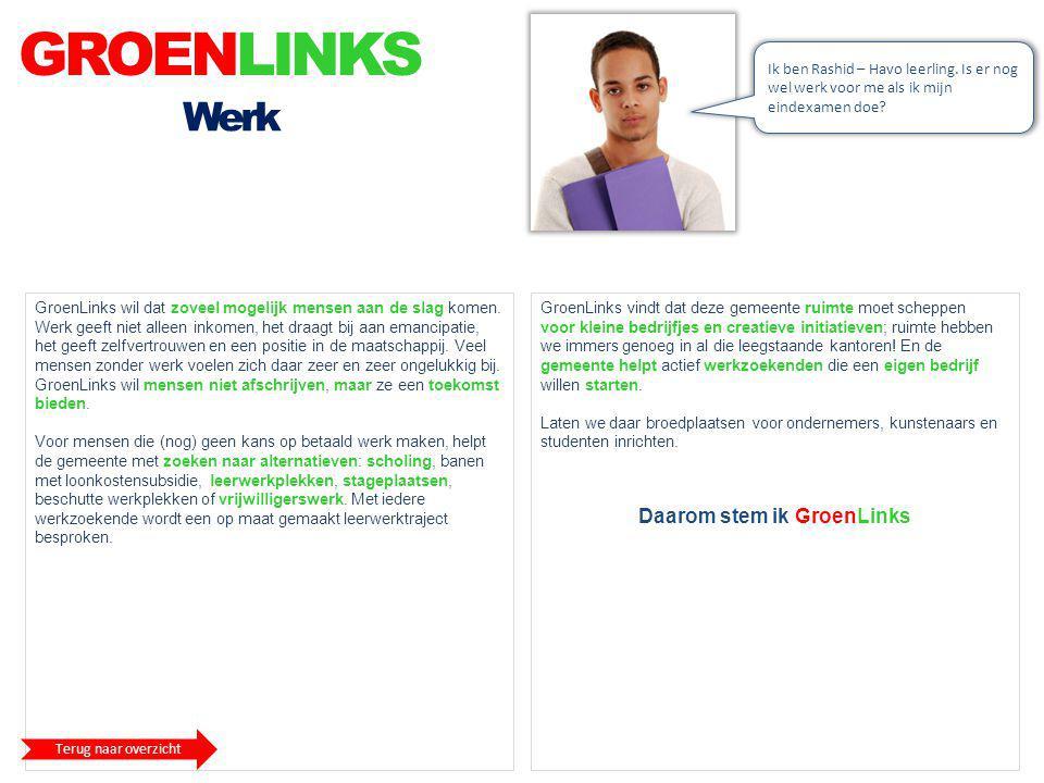 Daarom stem ik GroenLinks