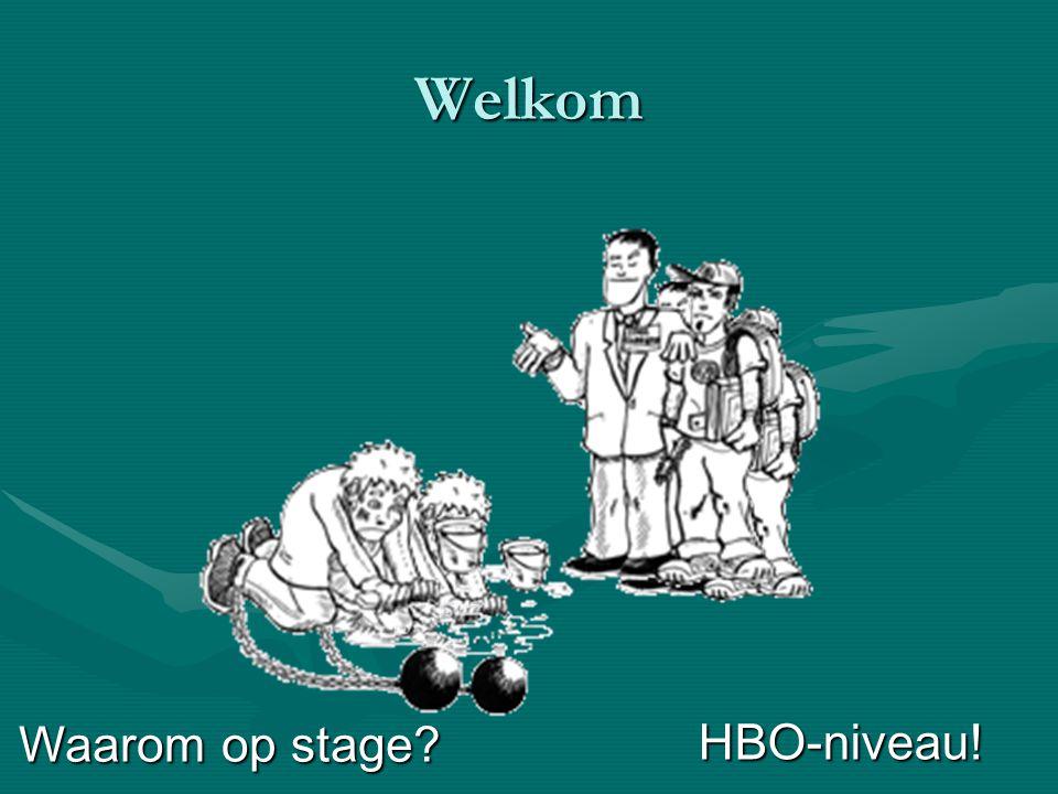 Welkom HBO-niveau! Waarom op stage