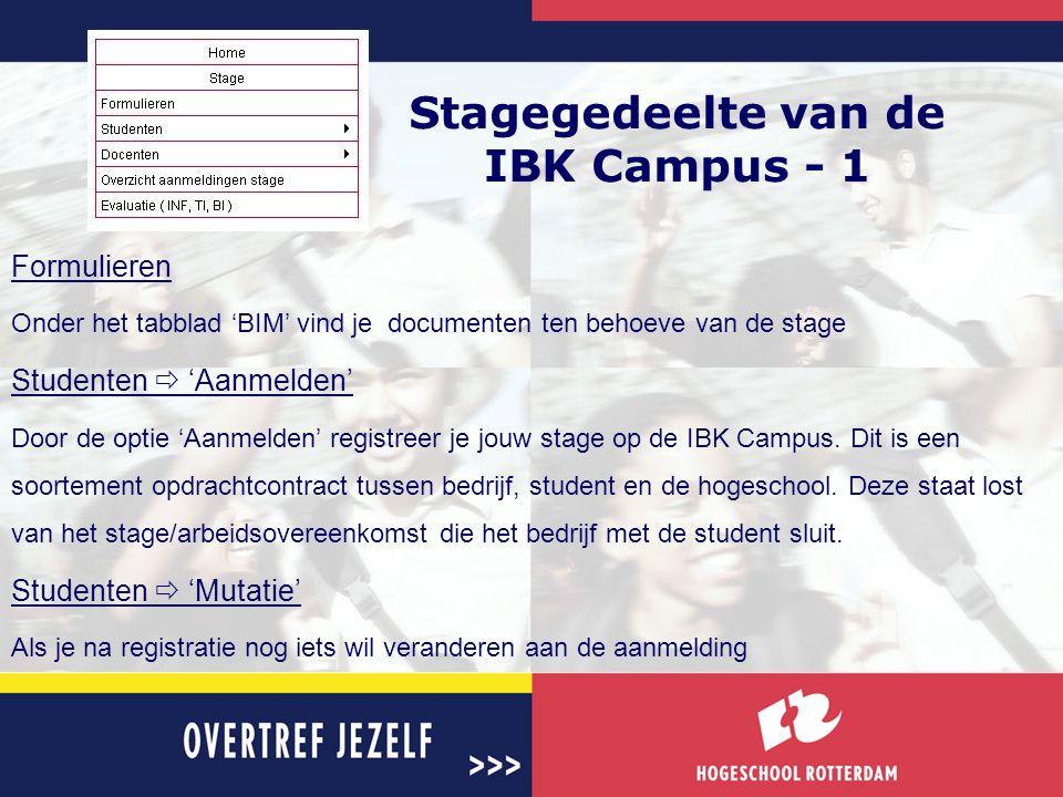 Stagegedeelte van de IBK Campus - 1