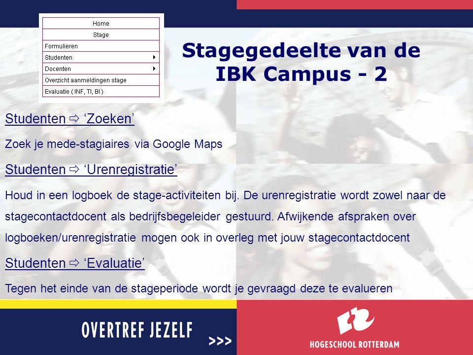 Stagegedeelte van de IBK Campus - 2