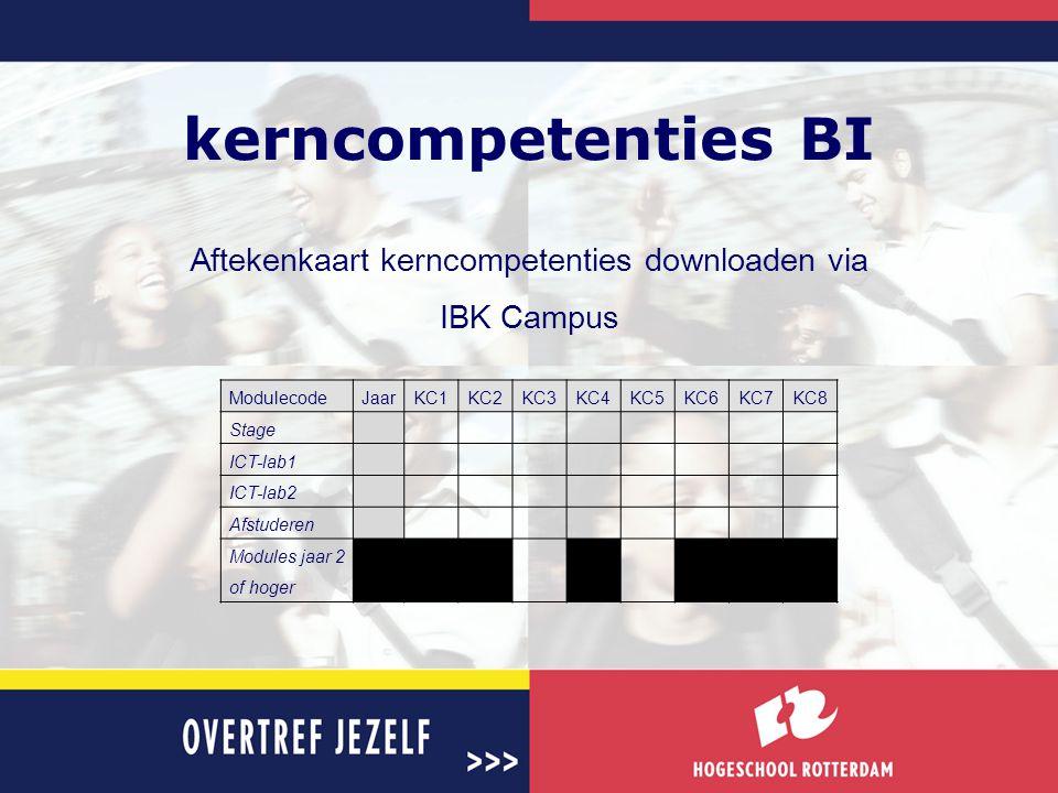 Aftekenkaart kerncompetenties downloaden via IBK Campus