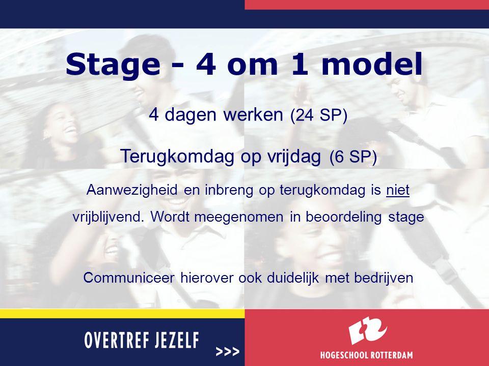 Stage - 4 om 1 model 4 dagen werken (24 SP)
