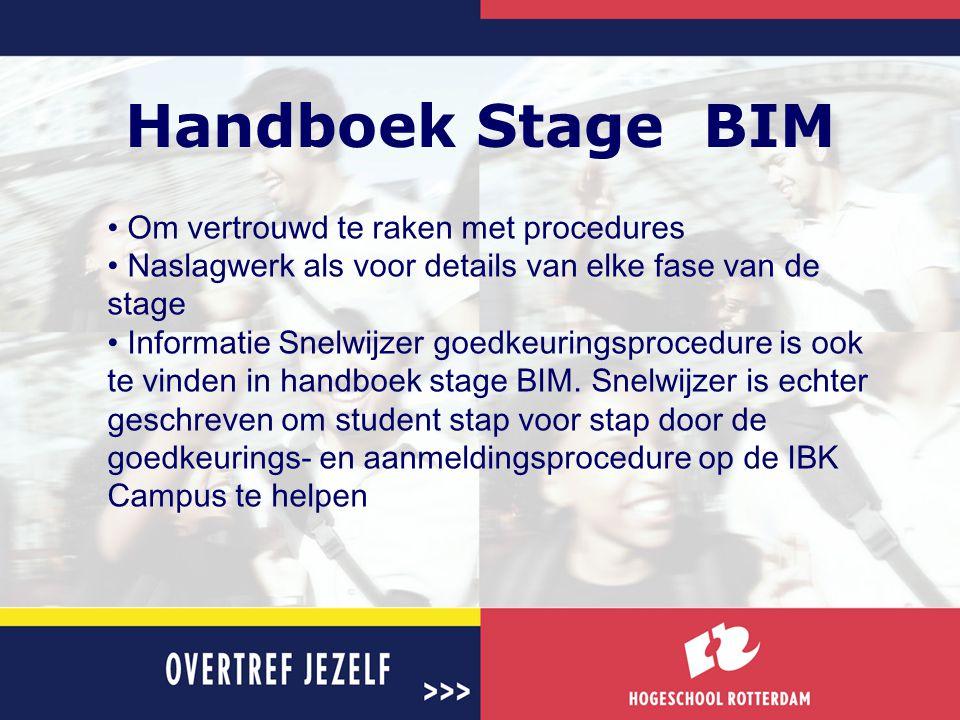 Handboek Stage BIM Om vertrouwd te raken met procedures