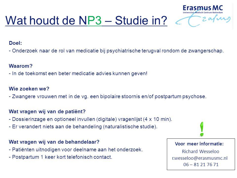 Wat houdt de NP3 – Studie in