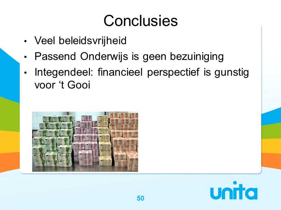 Conclusies Veel beleidsvrijheid Passend Onderwijs is geen bezuiniging