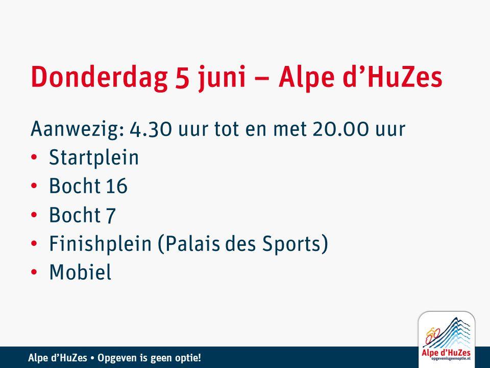 Donderdag 5 juni – Alpe d'HuZes